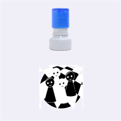 Chess pieces Rubber Round Stamps (Small)