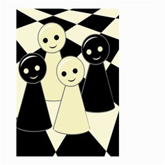 Chess pieces Small Garden Flag (Two Sides)