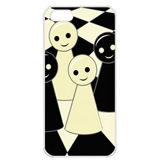 Chess pieces Apple iPhone 5 Seamless Case (White)