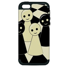 Chess pieces Apple iPhone 5 Hardshell Case (PC+Silicone)