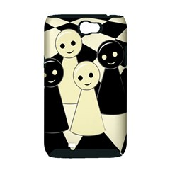 Chess pieces Samsung Galaxy Note 2 Hardshell Case (PC+Silicone)