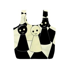 Chess pieces Full Print Recycle Bags (S)