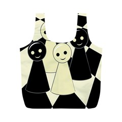 Chess pieces Full Print Recycle Bags (M)