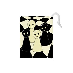 Chess pieces Drawstring Pouches (Small)