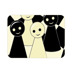 Chess pieces Double Sided Flano Blanket (Mini)