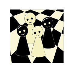 Chess pieces Small Satin Scarf (Square)