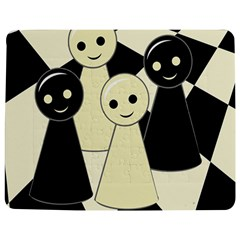 Chess pieces Jigsaw Puzzle Photo Stand (Rectangular)