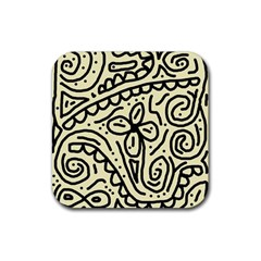 Artistic abstraction Rubber Coaster (Square)
