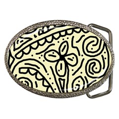 Artistic abstraction Belt Buckles