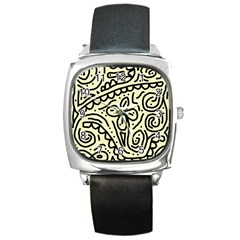Artistic abstraction Square Metal Watch