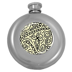 Artistic abstraction Round Hip Flask (5 oz)