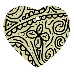 Artistic abstraction Heart Ornament (2 Sides)