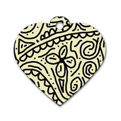 Artistic abstraction Dog Tag Heart (Two Sides)