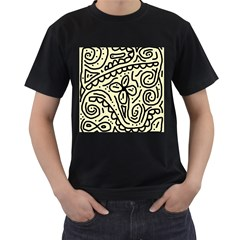Artistic abstraction Men s T-Shirt (Black)