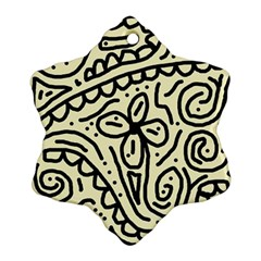 Artistic abstraction Snowflake Ornament (2-Side)