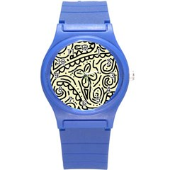 Artistic abstraction Round Plastic Sport Watch (S)
