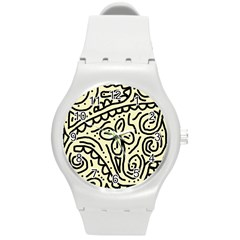 Artistic abstraction Round Plastic Sport Watch (M)