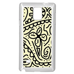 Artistic abstraction Samsung Galaxy Note 4 Case (White)