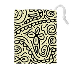 Artistic abstraction Drawstring Pouches (Extra Large)