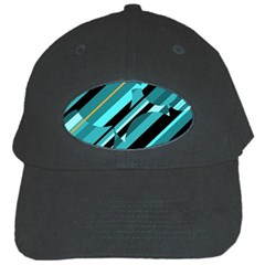 Blue abstraction Black Cap