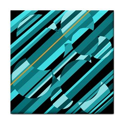 Blue abstraction Tile Coasters