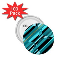 Blue abstraction 1.75  Buttons (100 pack)