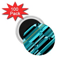 Blue abstraction 1.75  Magnets (100 pack)