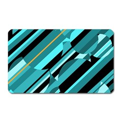 Blue abstraction Magnet (Rectangular)