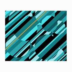Blue abstraction Small Glasses Cloth