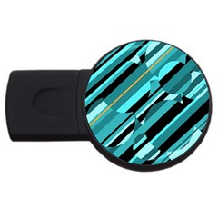 Blue abstraction USB Flash Drive Round (4 GB)