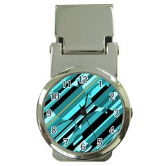 Blue Abstraction Money Clip Watches