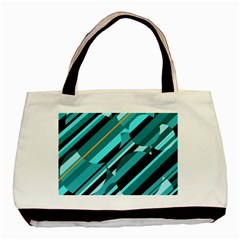 Blue abstraction Basic Tote Bag (Two Sides)