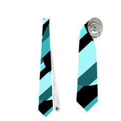 Blue abstraction Neckties (One Side)