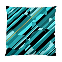 Blue abstraction Standard Cushion Case (One Side)