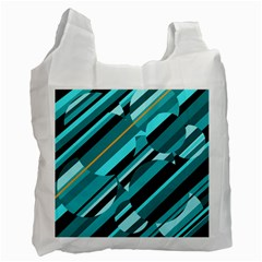 Blue abstraction Recycle Bag (Two Side)