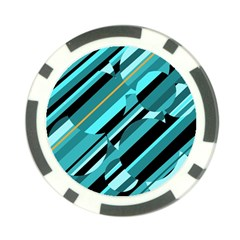 Blue abstraction Poker Chip Card Guards (10 pack)