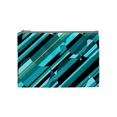 Blue abstraction Cosmetic Bag (Medium)