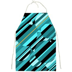 Blue abstraction Full Print Aprons