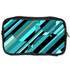 Blue abstraction Toiletries Bags