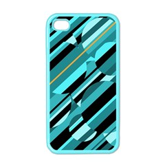 Blue abstraction Apple iPhone 4 Case (Color)