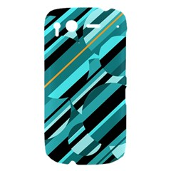Blue abstraction HTC Desire S Hardshell Case