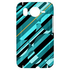 Blue abstraction HTC Desire HD Hardshell Case