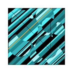 Blue abstraction Acrylic Tangram Puzzle (6  x 6 )