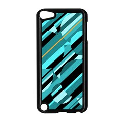 Blue abstraction Apple iPod Touch 5 Case (Black)