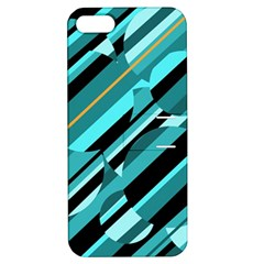 Blue abstraction Apple iPhone 5 Hardshell Case with Stand