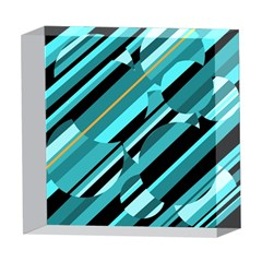 Blue abstraction 5  x 5  Acrylic Photo Blocks