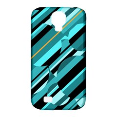 Blue abstraction Samsung Galaxy S4 Classic Hardshell Case (PC+Silicone)
