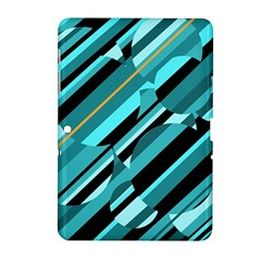 Blue abstraction Samsung Galaxy Tab 2 (10.1 ) P5100 Hardshell Case