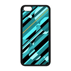 Blue abstraction Apple iPhone 5C Seamless Case (Black)