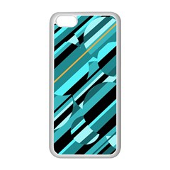 Blue abstraction Apple iPhone 5C Seamless Case (White)